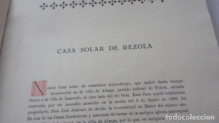 Libros de segunda mano: AMADEO DELAUNET ESNAOLA.HISTORIA GENEALOGICA CASA SOLAR DE REZOLA.1480-1949. SAN SEBASTIAN 1949. - Foto 11 - 96934391