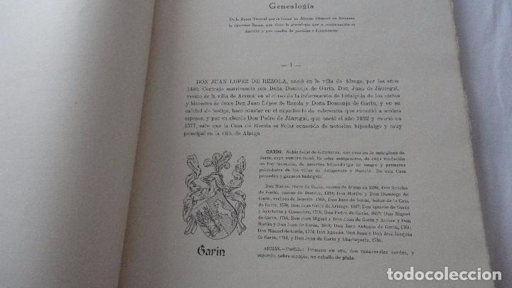 Libros de segunda mano: AMADEO DELAUNET ESNAOLA.HISTORIA GENEALOGICA CASA SOLAR DE REZOLA.1480-1949. SAN SEBASTIAN 1949. - Foto 13 - 96934391