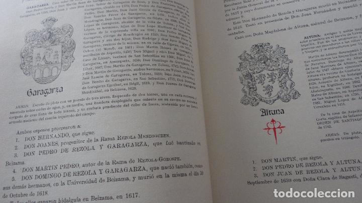 Libros de segunda mano: AMADEO DELAUNET ESNAOLA.HISTORIA GENEALOGICA CASA SOLAR DE REZOLA.1480-1949. SAN SEBASTIAN 1949. - Foto 15 - 96934391
