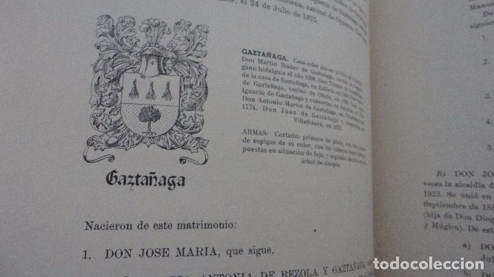 Libros de segunda mano: AMADEO DELAUNET ESNAOLA.HISTORIA GENEALOGICA CASA SOLAR DE REZOLA.1480-1949. SAN SEBASTIAN 1949. - Foto 20 - 96934391