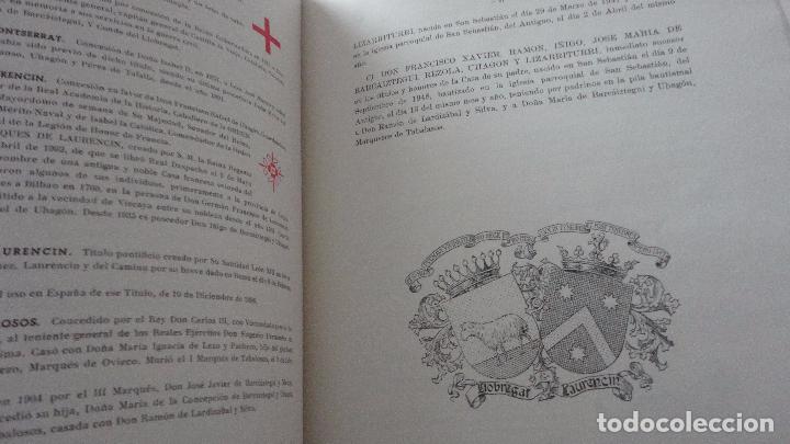 Libros de segunda mano: AMADEO DELAUNET ESNAOLA.HISTORIA GENEALOGICA CASA SOLAR DE REZOLA.1480-1949. SAN SEBASTIAN 1949. - Foto 22 - 96934391