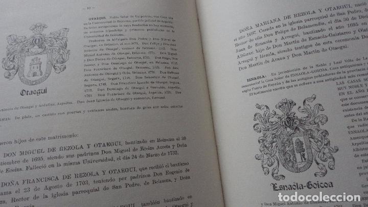 Libros de segunda mano: AMADEO DELAUNET ESNAOLA.HISTORIA GENEALOGICA CASA SOLAR DE REZOLA.1480-1949. SAN SEBASTIAN 1949. - Foto 23 - 96934391