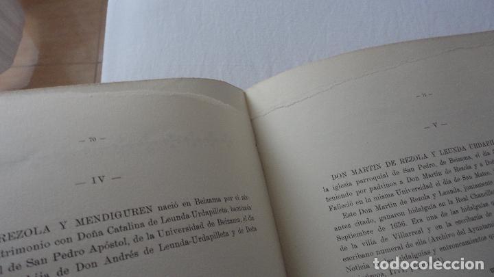 Libros de segunda mano: AMADEO DELAUNET ESNAOLA.HISTORIA GENEALOGICA CASA SOLAR DE REZOLA.1480-1949. SAN SEBASTIAN 1949. - Foto 25 - 96934391