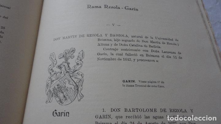 Libros de segunda mano: AMADEO DELAUNET ESNAOLA.HISTORIA GENEALOGICA CASA SOLAR DE REZOLA.1480-1949. SAN SEBASTIAN 1949. - Foto 27 - 96934391