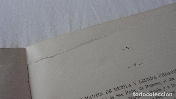 Libros de segunda mano: AMADEO DELAUNET ESNAOLA.HISTORIA GENEALOGICA CASA SOLAR DE REZOLA.1480-1949. SAN SEBASTIAN 1949. - Foto 33 - 96934391