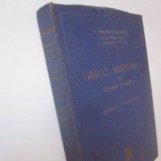 Libros de segunda mano: CAVANILLES NOGALES OLANO OBRAS MARÍTIMAS OLEAJE Y DIQUES CARTAS Y GRÁFICOS COMPLETO AÑOS 50. Lote 97022651