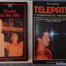 Libros de segunda mano: LOTE 2 LIBROS CIENCIAS OCULTAS Y TELEPATÍA, VER FOTOS. Lote 97356047