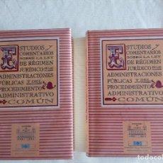 Libros de segunda mano: ESTUDIOS Y COMENTARIOS SOBRE LA LEY DE REGIMEN JURIDICO DE LAS ADMINISTRACIONES PUBLICAS, 2 TOMOS. Lote 97497991