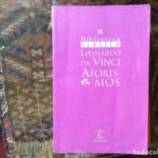 Libros de segunda mano: AFORISMOS. LEONARDO DA VINCI. Lote 97553140
