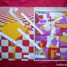 Libros de segunda mano: POP ART TALLER ESDRUJULUS REVISTA SERIGRAFIADA LOS ANACORETAS DOMINIQUE FOREST NINO 1971 53X40. Lote 97765131