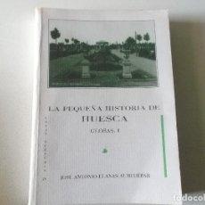 Libros de segunda mano: JOSE ANTONIO LLANAS ALMUDEBAR LA PEQUEÑA HISTORIA DE HUESCA GLOSAS,I 1996. Lote 97775787