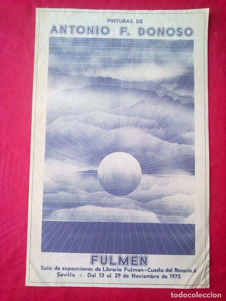 TUBAL CARTEL ANTONIO F DONOSO EXPOSICION LIBRERIA FULMEN SEVILLA 1975 64 CMS FEMINISMO (Libros de Segunda Mano - Bellas artes, ocio y coleccionismo - Otros)