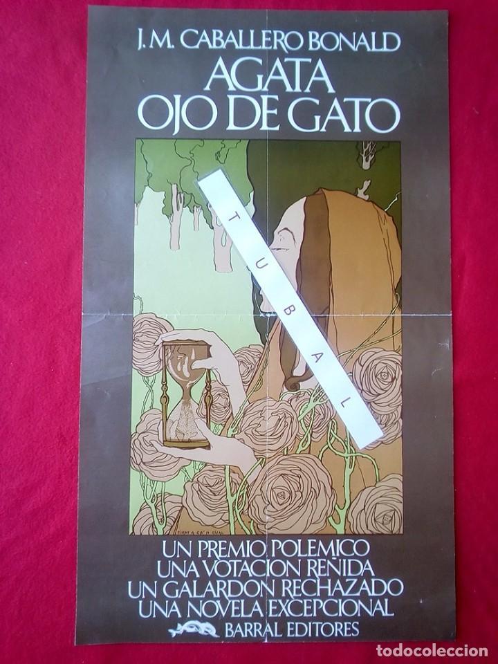 CARTEL ORIGINAL AGATA OJO DE GATO J.M. CABALLERO BONALD 60 CMS (Libros de Segunda Mano - Bellas artes, ocio y coleccionismo - Otros)