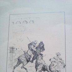 Libros de segunda mano: CARTEL ORIGINAL ALELUYAS DE CAYETANO SANZ LAGARTIJO Y FRASCUELO FIRMADO TAUROMAQUIA 70X42 CM 1973. Lote 97777111