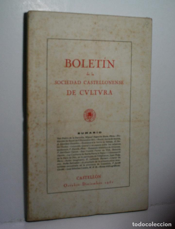 BOLETIN DE LA SOCIEDAD CASTELLONENSE DE CULTURA. TOMO XXVII - OCTUBRE-DICIEMBRE 1951 - CUADERNO IV (Libros de Segunda Mano - Historia - Otros)