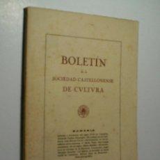 BOLETIN DE LA SOCIEDAD CASTELLONENSE DE CULTURA. TOMO XXII - SEPTIEMBRE-OCTUBRE 1946 - CUADERNO V