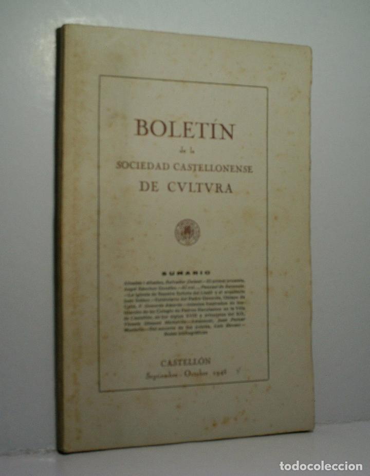 BOLETIN DE LA SOCIEDAD CASTELLONENSE DE CULTURA. TOMO XXI - SEPTIEMBRE-OCTUBRE 1945 - CUADERNO V (Libros de Segunda Mano - Historia - Otros)