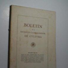 BOLETIN DE LA SOCIEDAD CASTELLONENSE DE CULTURA. TOMO XXI - ENERO-FEBRERO 1945 - CUADERNO I