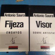 Libros de segunda mano: LOTE 2 LIBRO ANTONIO SAURA FIJEZA ENSAYOS + VISOR SOBRE ARTISTAS ED GALAXIA GUTENBERG. Lote 97796403
