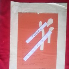 Libros de segunda mano: CARTEL SEIX BARRAL POESIA 1973 62X42 CM . Lote 97833615