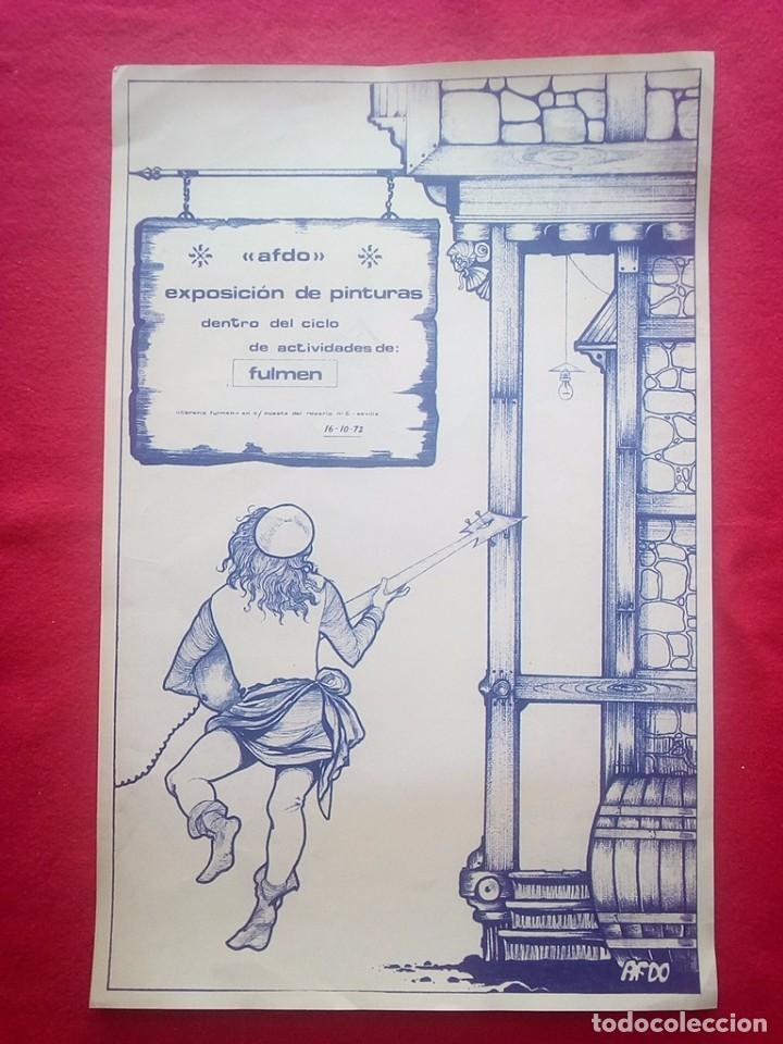 TUBAL 1972 CARTEL EXPOSICION ANTONIO F DONOSO SALA FULMEN SEVILLA 55X36 CMS FEMINISMO (Libros de Segunda Mano - Bellas artes, ocio y coleccionismo - Otros)