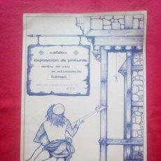 Libros de segunda mano: TUBAL 1972 CARTEL EXPOSICION ANTONIO F DONOSO SALA FULMEN SEVILLA 55X36 CMS FEMINISMO. Lote 97836372