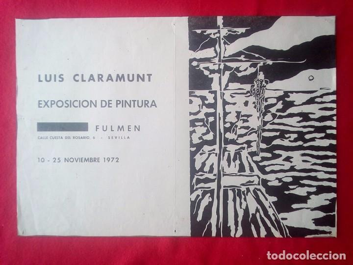 TUBAL CARTEL DIPTICO 2ª EXPOSICION LUIS CLARAMUNT SEVILLA LIBRERIA FULMEN 50X35 CMS FEMINISMO (Libros de Segunda Mano - Bellas artes, ocio y coleccionismo - Otros)