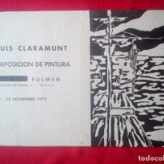 Libros de segunda mano: TUBAL CARTEL DIPTICO 2ª EXPOSICION LUIS CLARAMUNT SEVILLA LIBRERIA FULMEN 50X35 CMS FEMINISMO. Lote 97837978