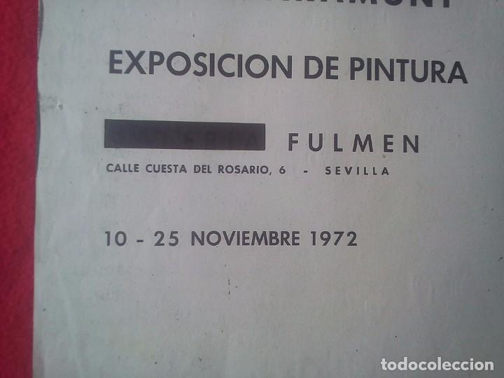 Libros de segunda mano: TUBAL CARTEL DIPTICO 2ª EXPOSICION LUIS CLARAMUNT SEVILLA LIBRERIA FULMEN 50X35 CMS FEMINISMO - Foto 2 - 97837978