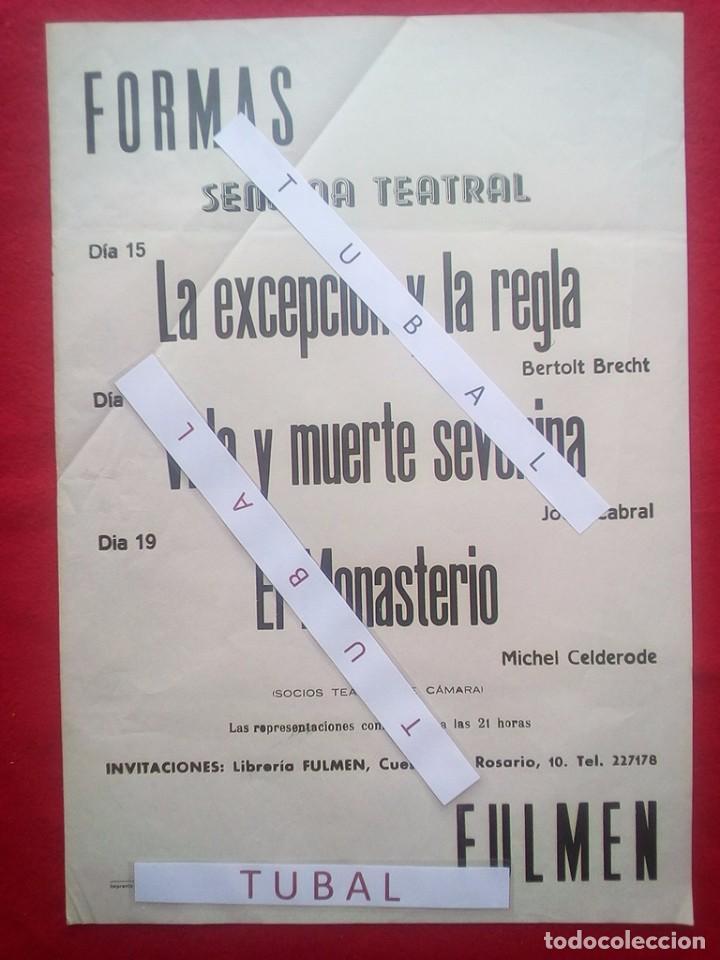 TUBAL 1972 CARTEL SEMANA TEATRAL BERTOLT BRECHT LIBRERIA FULMEN SEVILLA 50X35 CMS FEMINISMO (Libros de Segunda Mano - Bellas artes, ocio y coleccionismo - Otros)
