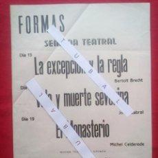 Libros de segunda mano: TUBAL 1972 CARTEL SEMANA TEATRAL BERTOLT BRECHT LIBRERIA FULMEN SEVILLA 50X35 CMS FEMINISMO. Lote 97840180