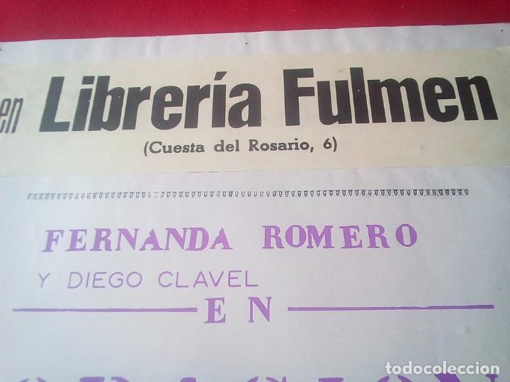 Libros de segunda mano: TUBAL FLAMENCO CARTEL ALFONSO JIMENEZ ROMERO LIBRERIA FULMEN SEVILLA 1972 58X44 CMS feminismo - Foto 2 - 97842074