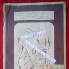 Libros de segunda mano: TUBAL CARTEL ANTONIO F DONOSO SALA LIBRERIA FULMEN SEVILLA 1973 72X53 CMS DEMIAN HESSE FEMINISMO. Lote 97847947