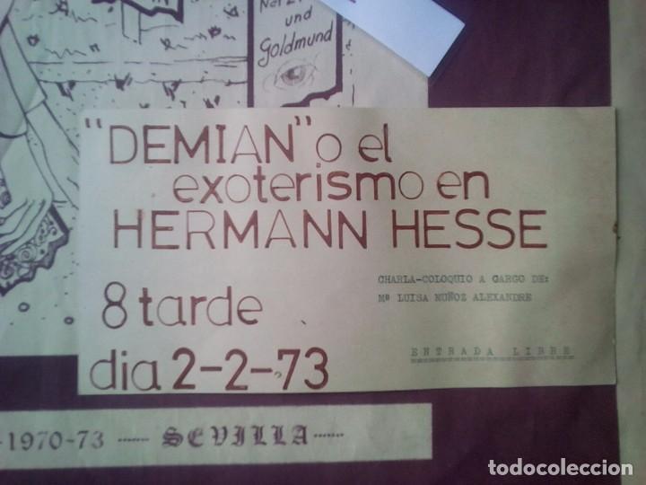 Libros de segunda mano: TUBAL CARTEL ANTONIO F DONOSO SALA LIBRERIA FULMEN SEVILLA 1973 72X53 CMS DEMIAN HESSE FEMINISMO - Foto 2 - 97847947