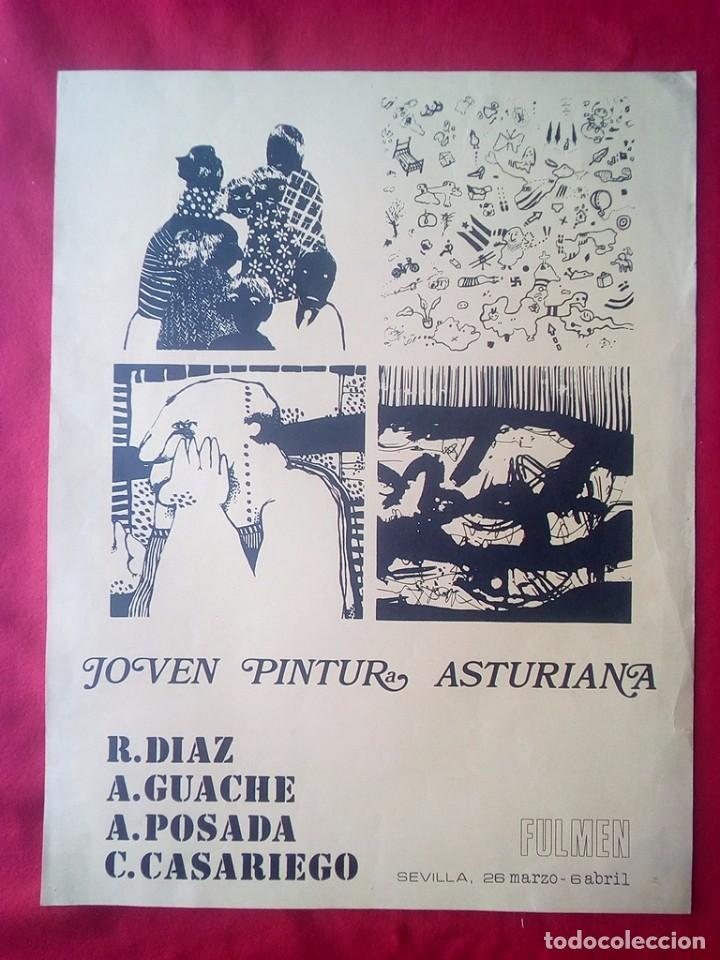 TUBAL CARTEL JOVEN PINTURA ASTURIANA LIBRERIA FULMEN SEVILLA 1972 65X51 CMS FEMINISMO (Libros de Segunda Mano - Bellas artes, ocio y coleccionismo - Otros)