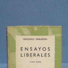 Libros de segunda mano: 1958.- ENSAYOS LIBERALES. MARAÑON. AUSTRAL. Lote 97993975
