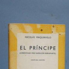 Libros de segunda mano: 1967.- EL PRINCIPE. MAQUIAVELO. AUSTRAL. Lote 97995439