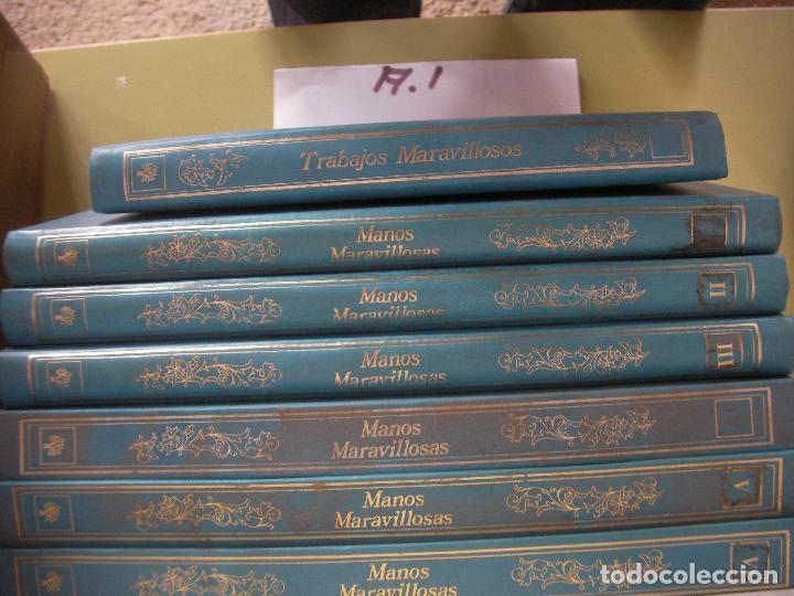TRABAJOS MARAVILLOSOS - ENCICLOPEDIA MANOS MARAVILLOSAS - TRABAJOS DE BORDADOS, TRAJES MUÑECAS Y OTR (Libros de Segunda Mano - Bellas artes, ocio y coleccionismo - Otros)