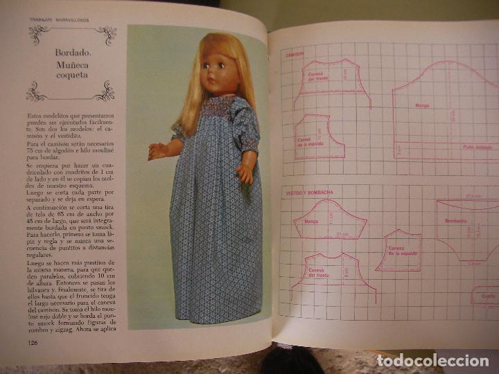 Libros de segunda mano: TRABAJOS MARAVILLOSOS - ENCICLOPEDIA MANOS MARAVILLOSAS - TRABAJOS DE BORDADOS, TRAJES MUÑECAS Y OTR - Foto 4 - 98002983