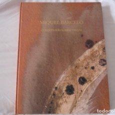 Libros de segunda mano: MIQUEL BARCELO CONJETURAS SOBRE VASIJAS LIBRO GRAN FORMATO. Lote 98041647