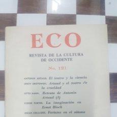 Libros de segunda mano: ECO. REVISTA DE LA CULTURA DE OCCIDENTE. N 121. ARTAUD. GROTOWSKI. HAHN. FURTER. COLLAZOS. BOGOTA. Lote 98078111