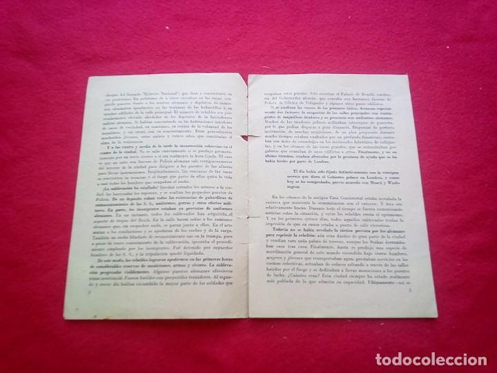 Libros de segunda mano: 1943 LA SUBLEVACION DE VARSOVIA 21 CMS 8 PGS II GUERRA MUNDIAL K1 - Foto 3 - 98126975