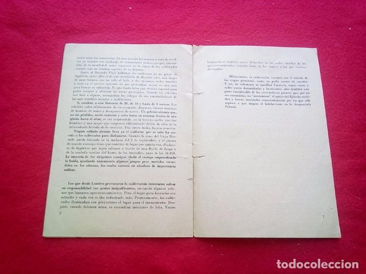 Libros de segunda mano: 1943 LA SUBLEVACION DE VARSOVIA 21 CMS 8 PGS II GUERRA MUNDIAL K1 - Foto 4 - 98126975