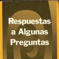 Libros de segunda mano: ABDU'L BAHÁ : RESPUESTAS A ALGUNAS PREGUNTAS (BUENOS AIRES, 1985). Lote 98139831