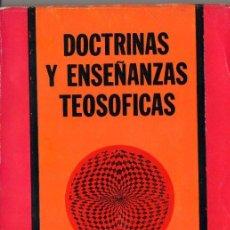 Libros de segunda mano: H. P. BLAVATSKY : DOCTRINAS Y ENSEÑANZAS TEOSÓFICAS (DÉDALO, 1979) . Lote 98141727