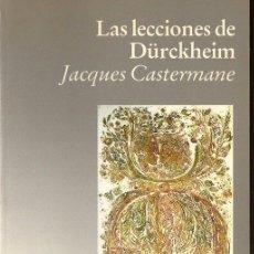 Libros de segunda mano: J. CASTERMANE : LAS LECCIONES DE DURCKHEIM (LUCIÉRNAGA, 1989). Lote 98144383