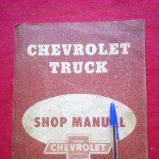 Libros de segunda mano: 1957 MODELS CHEVROLET TRUCK SHOP MANUAL DE REPARACIONES 28 CMS 2100 GRS. Lote 98204191