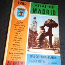 Libros de segunda mano: LIBRO ATLAS DE MADRID 1982 ALMAX GUIA CALEJEROS-PLANOS1982. Lote 98247191