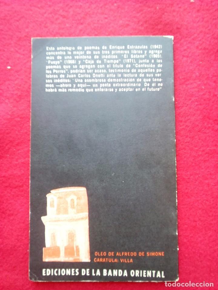 Libros de segunda mano: ENRIQUE ESTRAZULAS CONFESION DE LOS PERROS 1975 20 CMS 1ª EDICION 150 GRS - Foto 2 - 98356743
