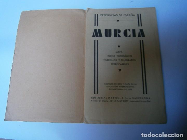 Libros de segunda mano: LIBROS ARTE MURCIA MAPAS - MURCIA PROVINCIAS DE ESPAÑA MAPA INDICE TOPONIMICO TELEFONOS Y TELEGRAFOS - Foto 2 - 98440611